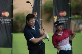 Sir Nick Faldo and Marc Ong go head to head on the driving range