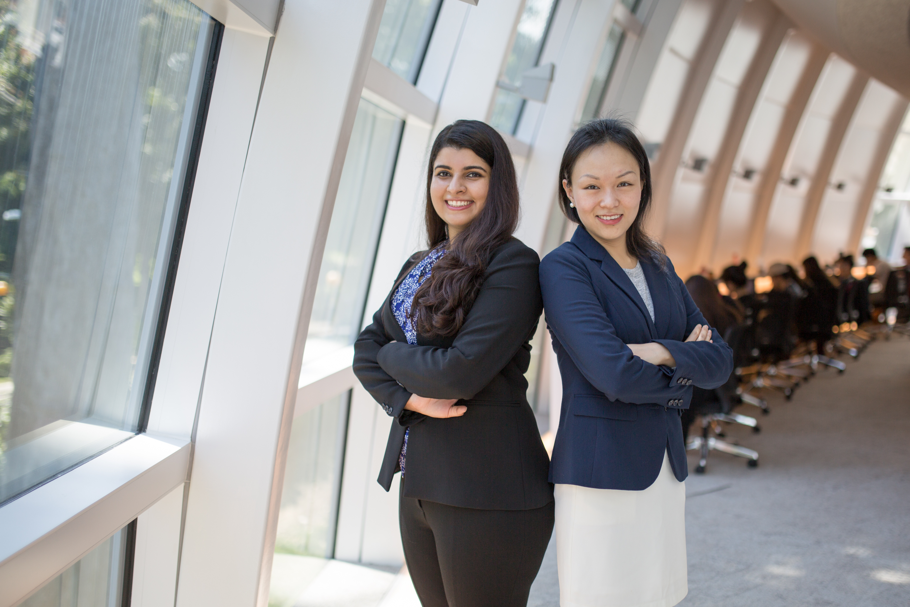 SMU recipients Shaily Sharma and Zhou Yuzhen