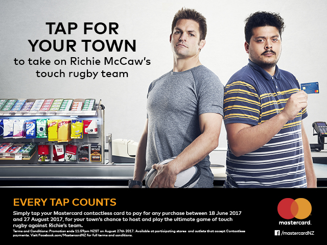 Tap For Your Town to take on Richie McCaw's touch rugby team