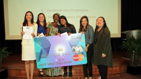 Flickr Photo: Georgette and Trina, co-founders of Project Inspire, with the winners of Project Inspire 2013