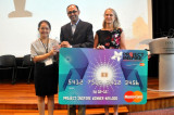 Flickr Photo: Project Inspire winner with judges Patricia Devereux and T.V. Seshadri from MasterCard
