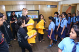 Flickr Photo: Girls4Tech: MasterCard India employees welcoming the girls from The Air Force School
