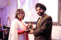 Ertharin Cousin, WFP Executive Director and Ajay Banga, Mastercard President and CEO