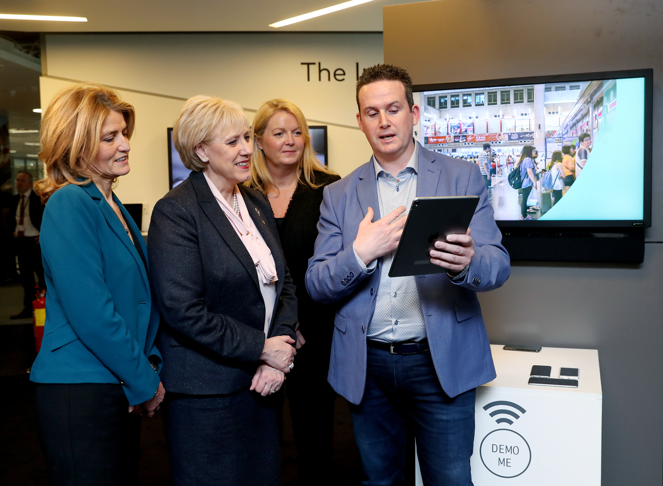 Embargoed until 00.01 Thursday 12th April 11/04/2018 NO REPRO FEE, MAXWELLS DUBLIN Mastercard expands presence in Ireland, hiring 175 new staff to drive payments innovation. Pic shows ( l to r ) Mary Buckley, Executive Director, IDA Ireland, Minister for Business, Enterprise and Innovation, Ms. Heather Humphreys T.D., Sonya Geelon, Country Manager, Mastercard Ireland and Dave Fleming, Global Head of Research & Development, MasterCard. Mastercard has announced it will expand its presence in Ireland, hiring 175 new employees in Dublin focused on driving innovation and creating the future of payments around the world. Roles include software engineers, blockchain specialists, data scientists, project managers, analysts, product designers, cloud infrastructure specialists and information security experts. The new jobs represent Mastercard's commitment to driving innovation in payments and beyond, designing ground-breaking security solutions, and striving for a world beyond cash. The office is also the hub of Mastercard's business in Ireland, working with banks and credit card issuers to deliver convenient, safe and secure payment services to consumers and businesses across Ireland.  PIC: NO FEE, MAXWELLPHOTOGRAPHY.IE