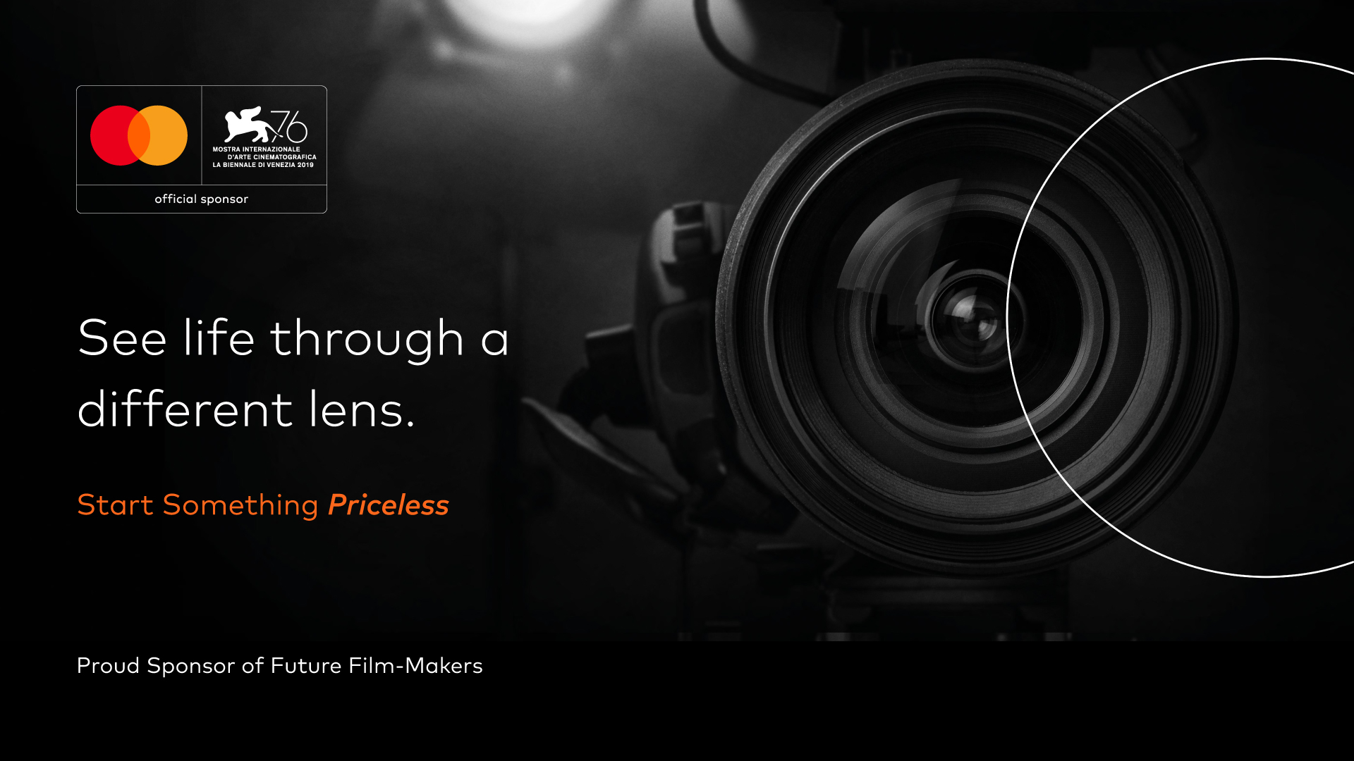 Mastercard is pleased to unveil an exclusive event at the 76th Venice International Film Festival