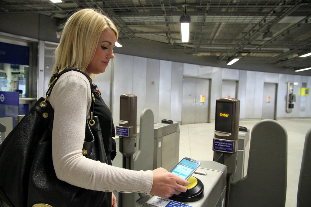 Flickr Photo: Transport for London: Commuter paying with a contactless enabled phone'