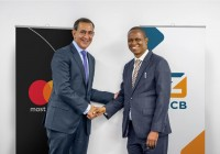 ZICB CEO Mr. Ignatius Mwaza and Mastercard President for Middle East and Africa Mr. Raghu Malhotra