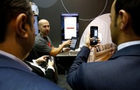 IMAGE DISTRIBUTED FOR MASTERCARD - The future of interior design is here with Dream Home were augmented reality and payments come together at the 2018 Mobile World Congress on Monday, Feb. 26, 2018 in Barcelona, Spain. (Manu Fernandez/AP Images for Mastercard)
