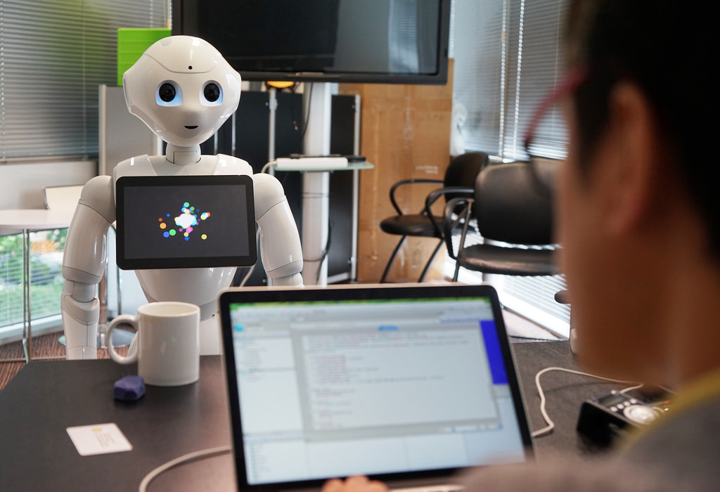 Flickr Photo: Behind the Scenes with Pepper at MasterCard Labs