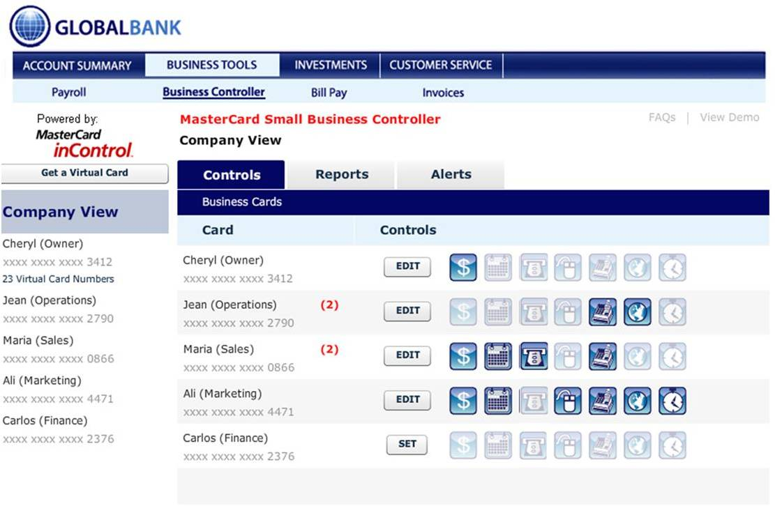 Mastercard incontrol small business controller dashboard view leave a comment magicingreecefo Images