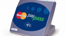 MasterCard PayPass card reader, side view