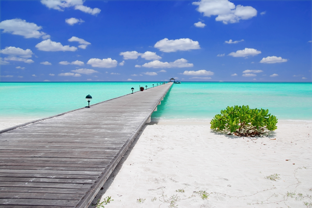 Jetty in the Maldives