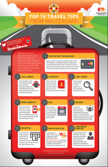 Infographic: MasterCard Top 10 Travel Tips