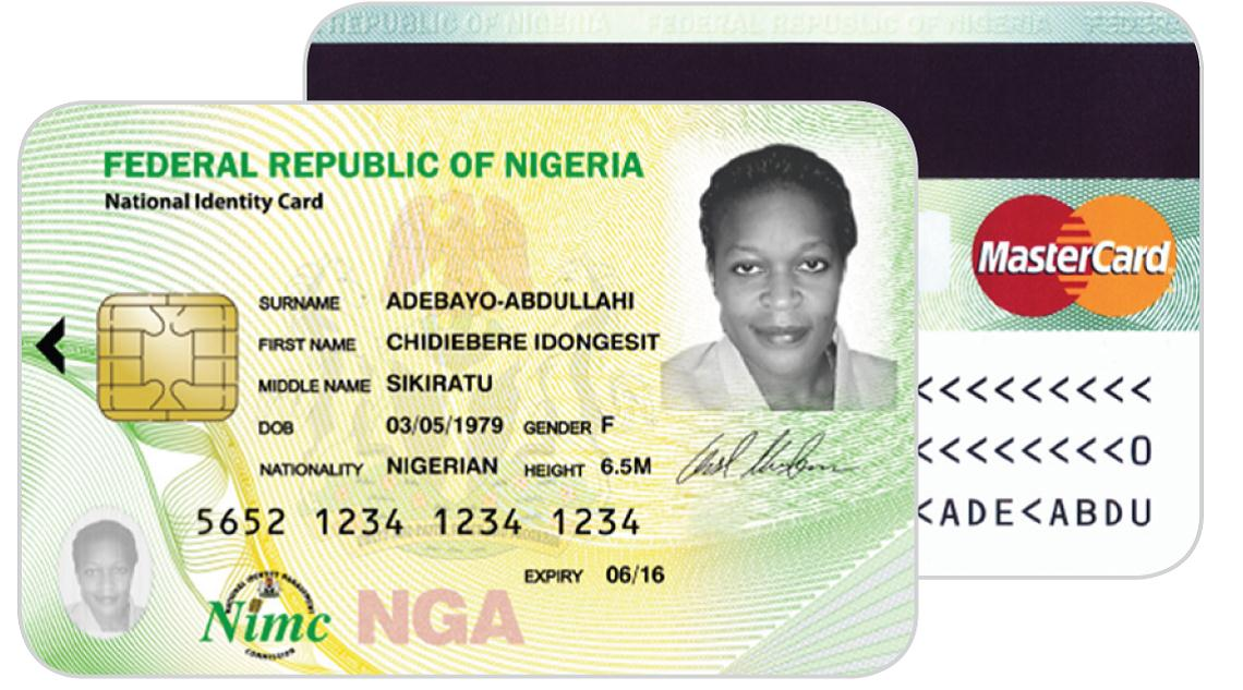 mastercard to power nigerian identity card program. Black Bedroom Furniture Sets. Home Design Ideas