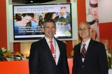 From left: Ed Glassman, group executive, Global Commercial Products & Solutions MasterCard and D.J. DiDonna, ,co-founder and Chief Operating Officer of EFL announce partnership at Sibos 2013 in Dubai, UAE.