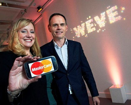 """Marion King and Weve CEO, David Sear announce a partnership that will see MasterCard create the UK's most comprehensive contactless platform, working with the UK's major mobile telecoms group"""