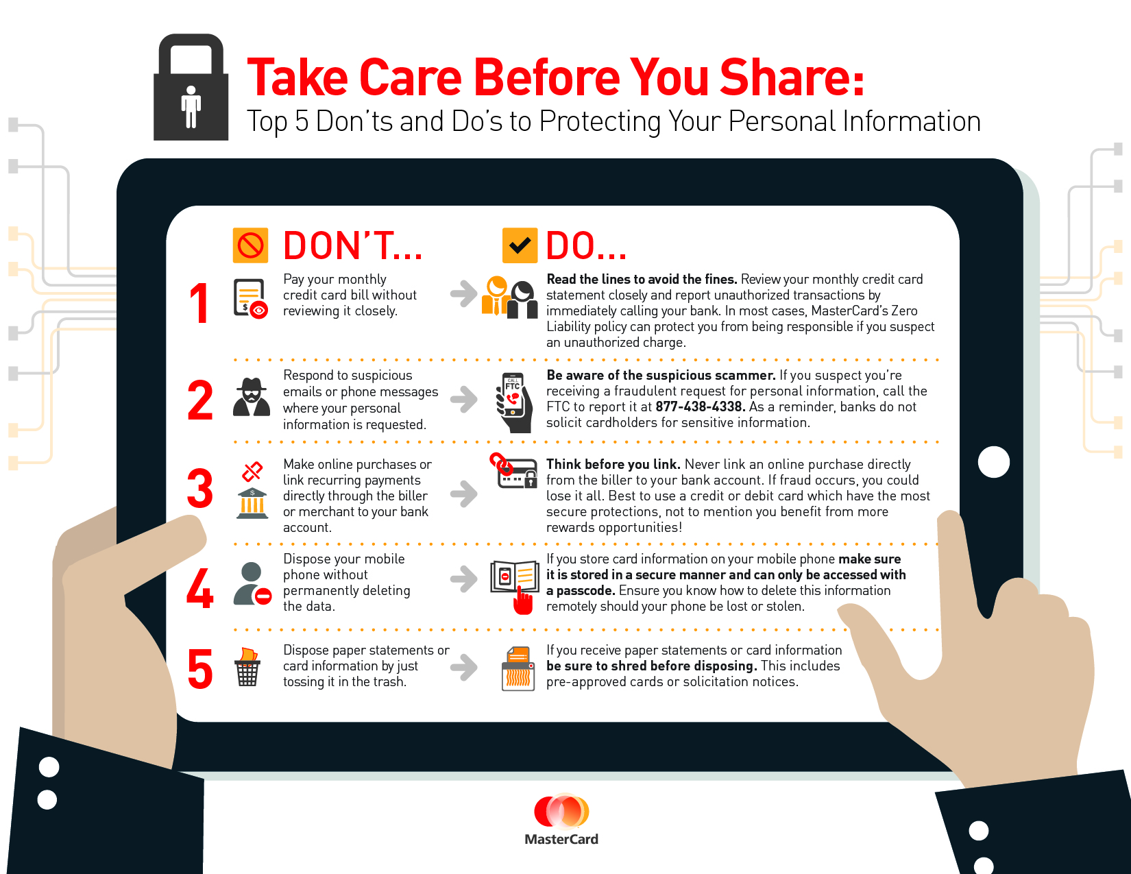 care   share top  donts  dos  protecting  personal information