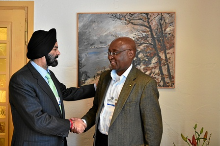 World Economic Forum 2015: Ajay S. Banga and  Donald Kaberuka