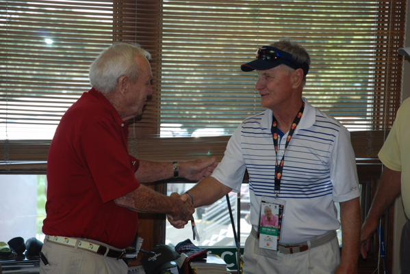 A legendary surprise! MasterCard told this cardholder we would give him a private tour of Bay Hill at the Arnold Palmer Invitational. He had no idea he would get to meet Arnold Palmer himself!