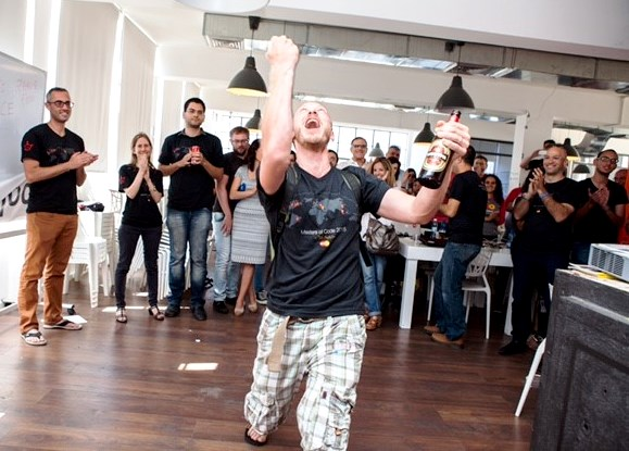 Yuri Friedberg and his weBusking team won the Tel Aviv Masters of Code  Hackathon