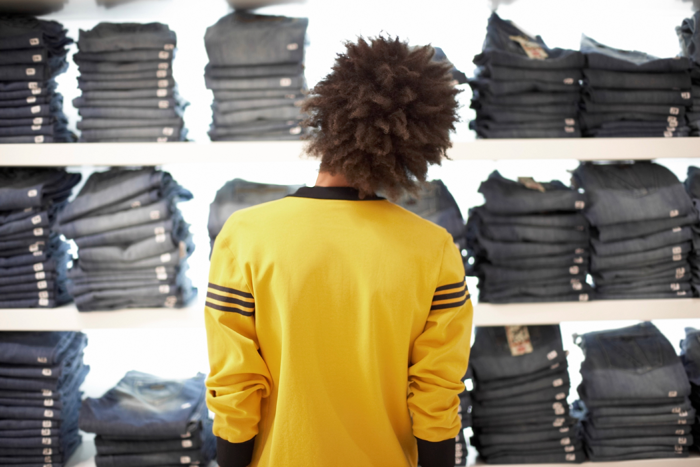 Young Man Shopping --- Image by © Randy Faris/Corbis