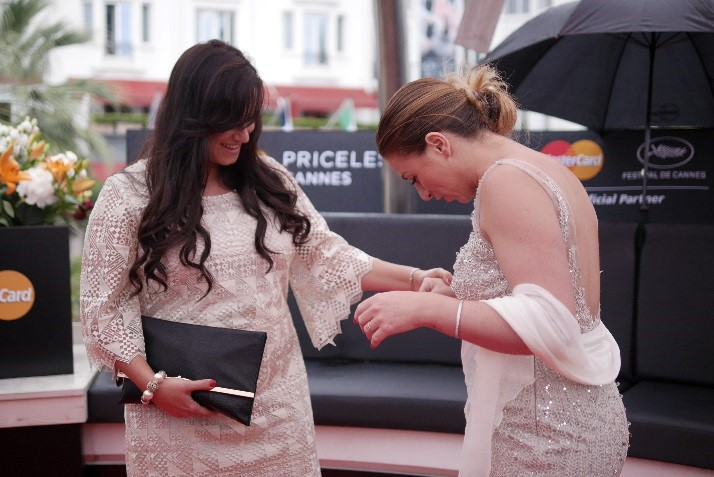 Don't you look Great! Winners of the MasterCard Star Weekend in Cannes greet eachother and open a nother surprise envelope to learn they are walking the red carpet for the Steven Spielberg film!
