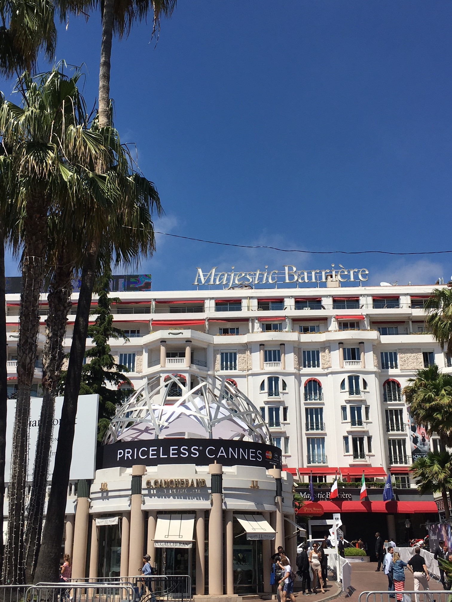 An outside view of MasterCard Priceless Cannes terrace at the Cannes Film Festival