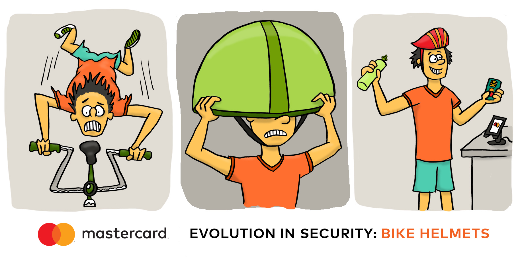 Chip cards protect transactions in about the same time as it takes to put on a bike helmet.