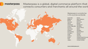 Masterpass is available in 34 countries.