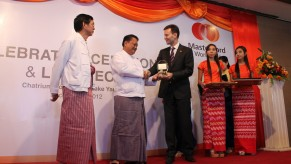 Flickr Photo: Award to CB Bank as being the first bank in Myanmar to be issued a license