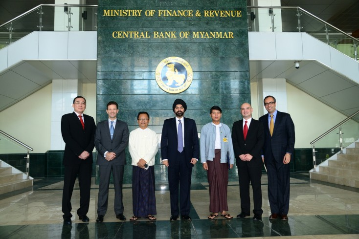 Ajay Banga President And Ceo Of Mastercard Worldwide In Front The Ministry Finance