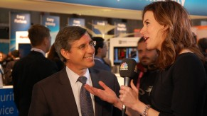 Flickr Photo: Chief Emerging Payments Office Ed McLaughlin with CNBC's Kelly Evans