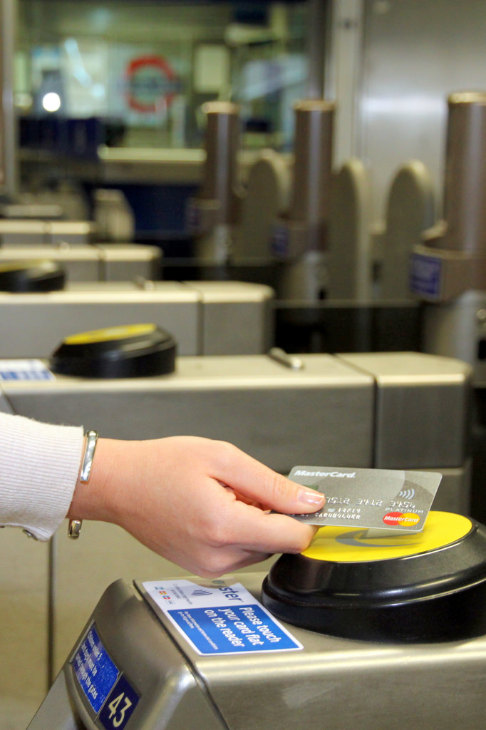 Flickr Photo: Transport for London: Commuter paying with a MasterCard contactless card