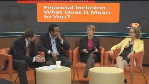 YouTube Video: MasterCard Cashless Conversation on Financial Inclusion with Kim Wilson, The Fletcher School
